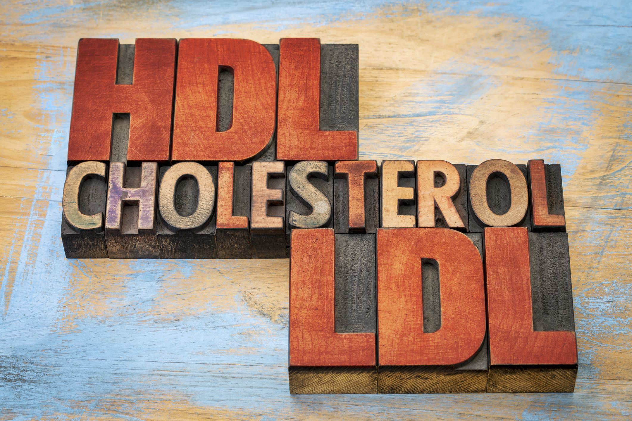 HDL and LDL cholesterol word abstract