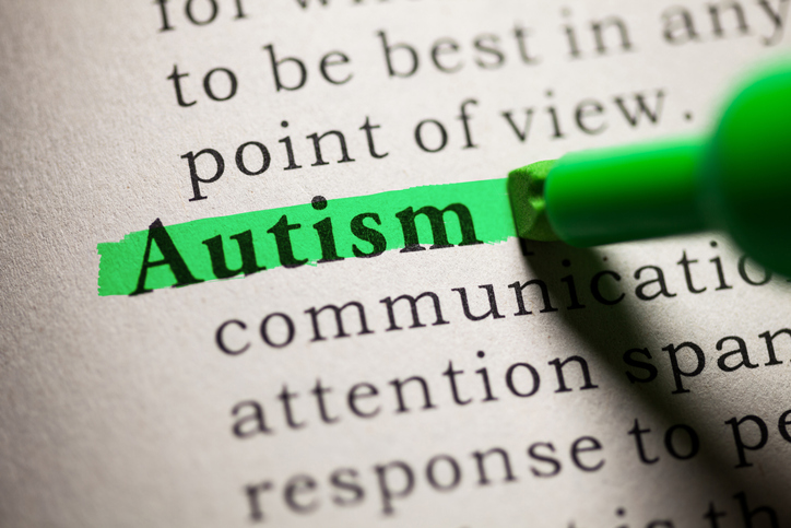"The word ""autism"" highlighted"