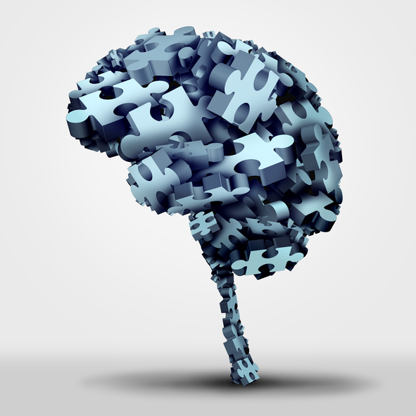 Brain puzzle concept for Alzheimer's disease