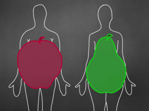 fat placement apple versus pear body shape